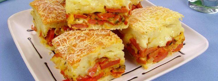 Especial dia das mães: Torta de salsicha com requeijão